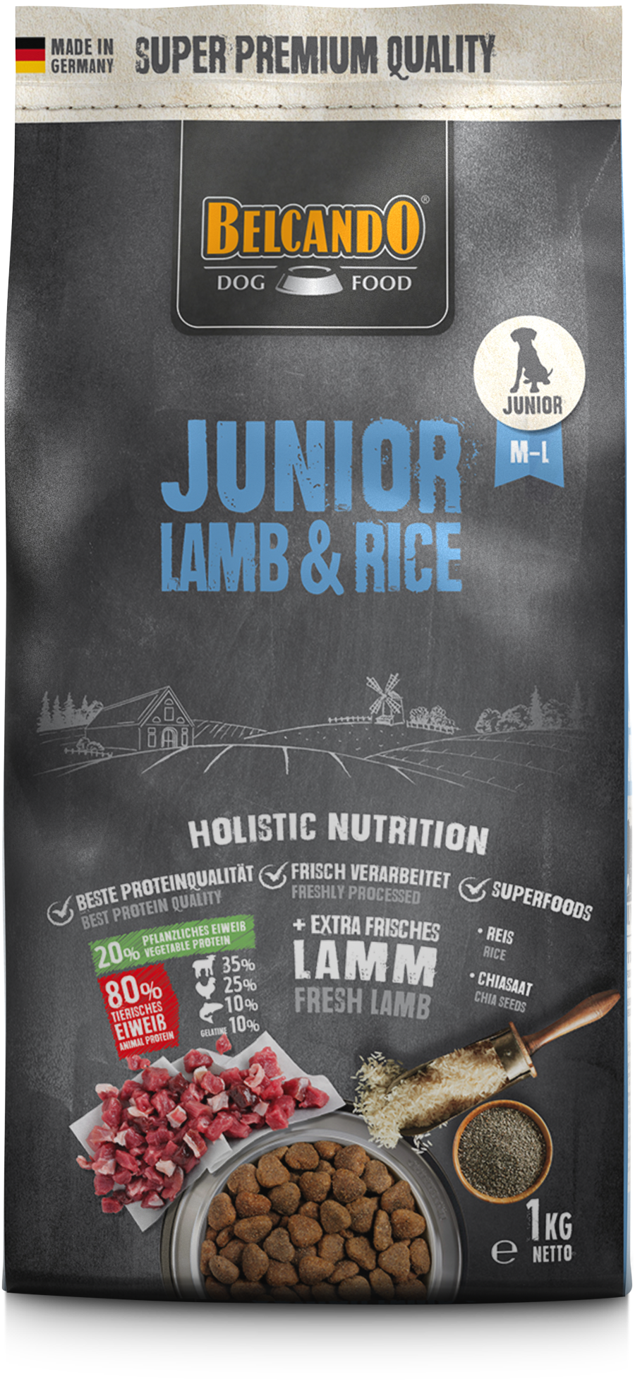 Belcando-Junior-Lamb-Rice-1kg-front
